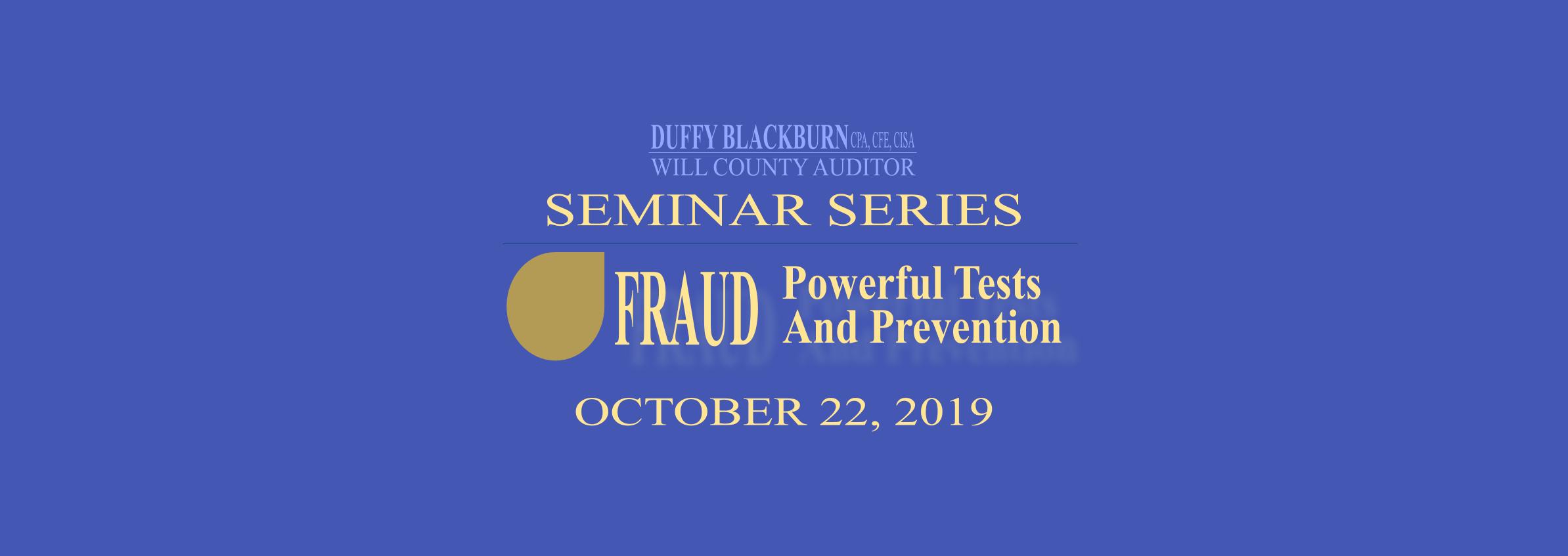 2019 Seminar Series