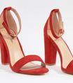 Glamorous - Sandales à talons carrés - Rouge