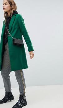 New Look - Manteau ajusté - Vert