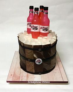 Beer Bucket Cake_Pink