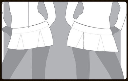 grid girls clothing bespoke promotional outfits pleated skirt