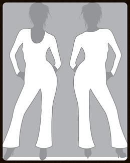 grid girls clothing bespoke promotional flared catsuit