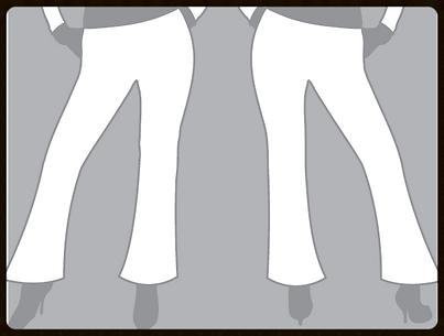 grid girls clothing bespoke promotional bottoms flared