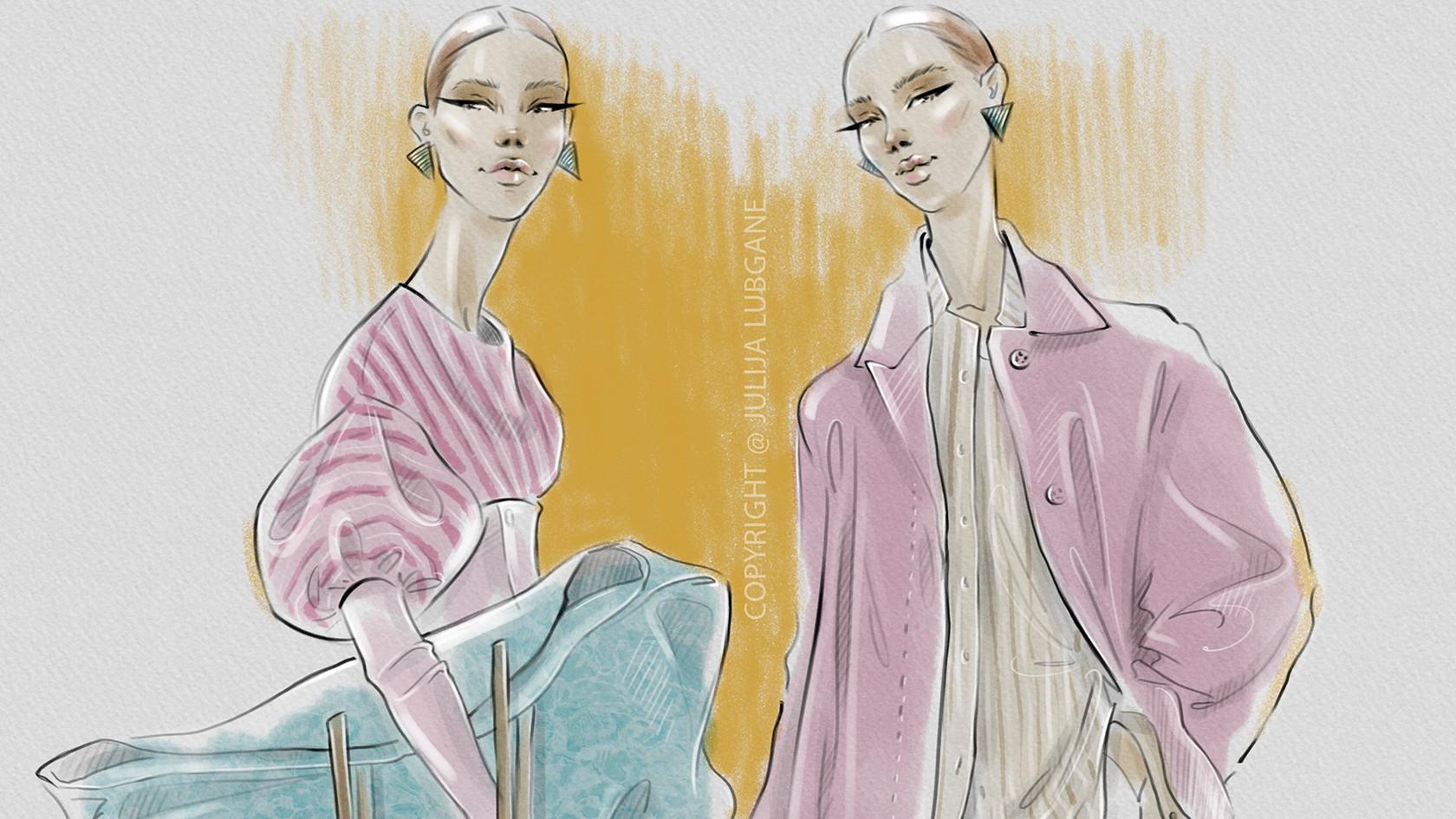 Fashion Illustration close up by Julija Lubgane