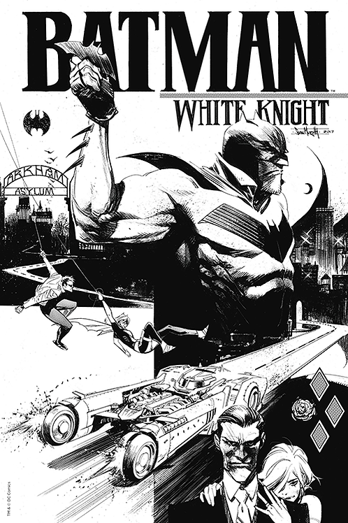 Batman White Knight 01 - Cover B&W Exclusive Variant