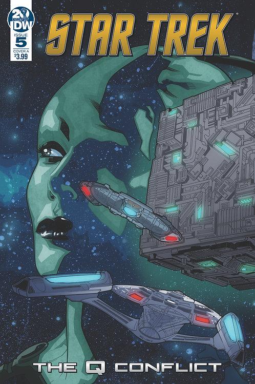 Star Trek Q Conflict 05 - Cover A Messina