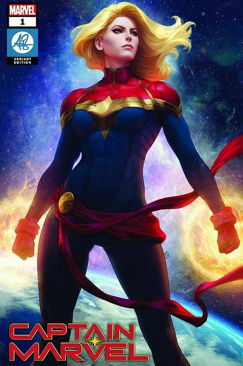 Captain Marvel 01 - Cover Artgerm