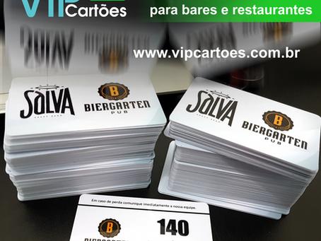 Cartão de consumo personalizado com numeração e código de barras