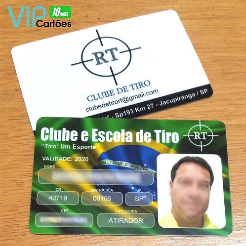 Carteirinha PVC Personalizada - Pacote com 200 unidades