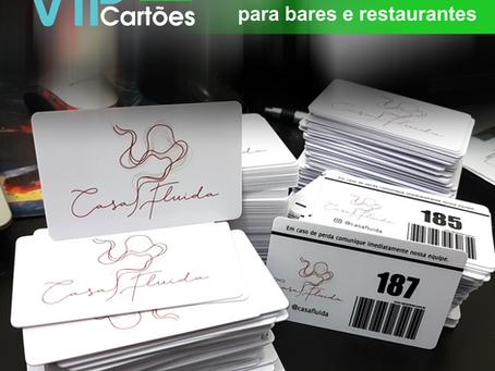 Cartão consumação com código de barras