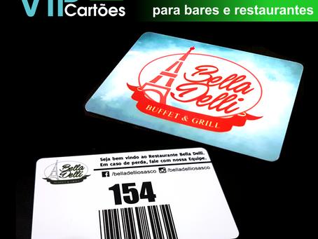 Cartão PVC de Consumo para bares e restaurante: mais um pedido entregue!