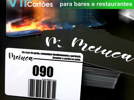 Cartões de Consumo em pvc com numeração e código de barras.