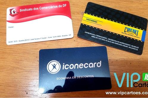 Cartão PVC Personalizado - Pacote com 1000 unidades