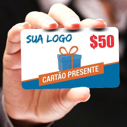 Cartão Presente | Gift Card - Pacote com 60 unidades