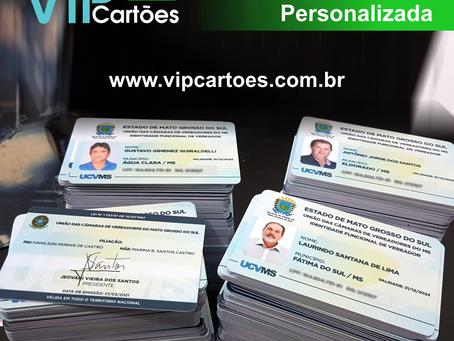 Carteirinha PVC personalizada com sua logo e informações