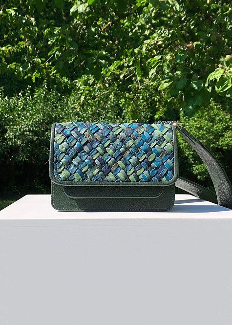 Vaskala Claude Monet Hand-woven mini bag with strap