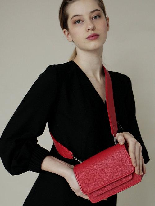 Vaskala Red mini bag with strap