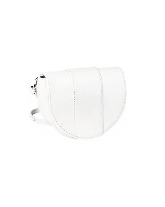 W - The Crescent belt bag white