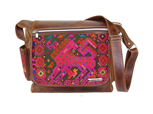 Mayan Embroidery Messenger Bag - 6203