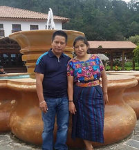 Male and Female Mayan textie artists for Makario'S Artesanos