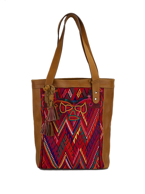 Huipil Leather Bags - Artisan Tote