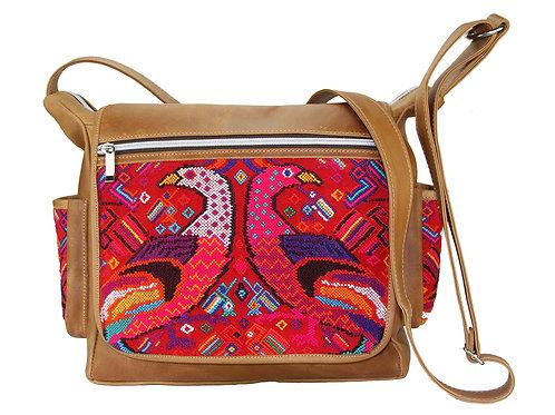 Mayan Embroidery Messenger Bag - 2601