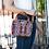 Huipil Leather Bag Crossbody Bag With Geometric Pattern Worn On Shoulder