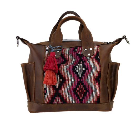 Huipil Convertible Day Bag Mini, Front View