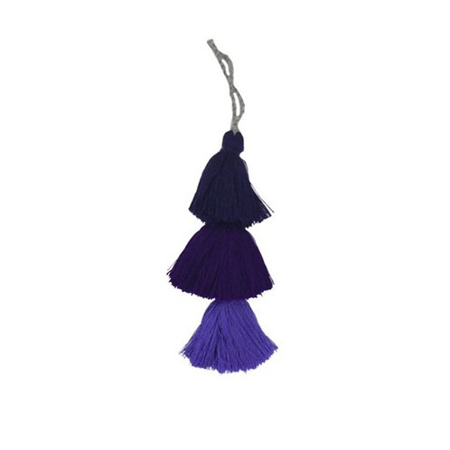 Tassels And Pom Poms In Purple