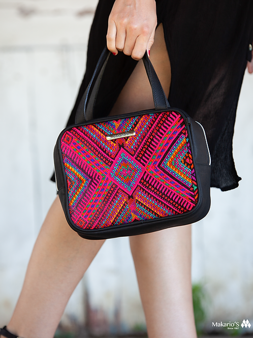 Cube Huipil Leather Bag 4447