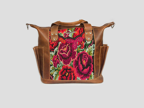 Bags Guatemala-Floral-Huipil-Convertible-Day-Bag-Front-View