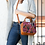 Huipil Leather Bag Crossbody Bag With Pink And Black Textile