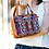 Huipil Leather Bag Crossbody Bag With Geometric Pattern With Geometric Floral Design