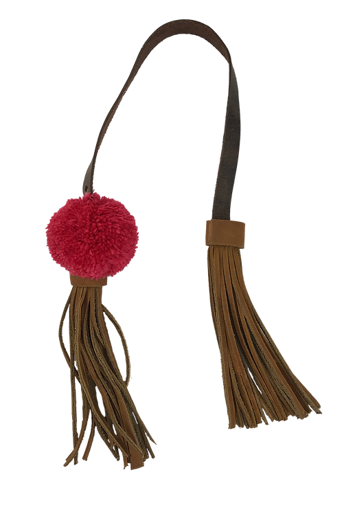 Leather Strap and Tassel - 4022