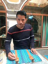 huipil bag making at Makario's Artesanos