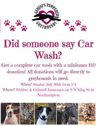 Car Wash Fundraiser August 30th!!
