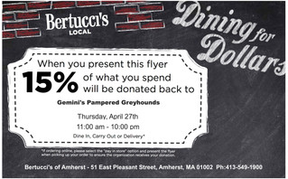 Dining for Dollars Fundraisers