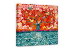 Leinwand-Blanz-Baum-des-Lebens-einzel
