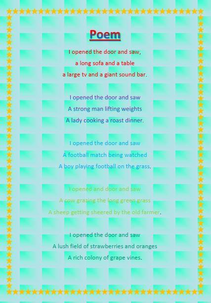 Alfie's Poem -The door.JPG