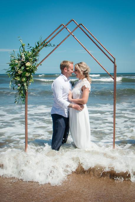 Styled wedding portrait