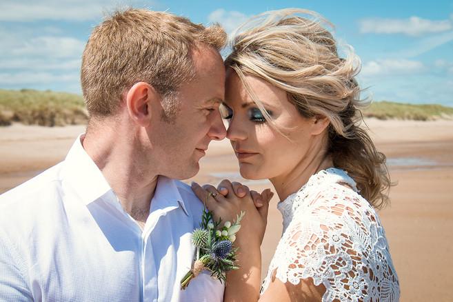 Coastal wedding portrait