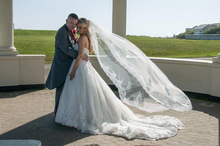 Floating wedding viel, Blyth bandstand