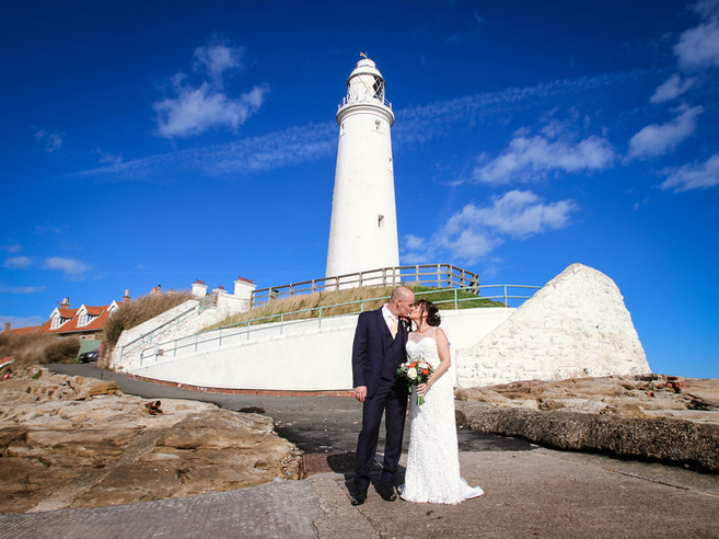 Richard & Debbie's wedding at St Mary's Lighthouse