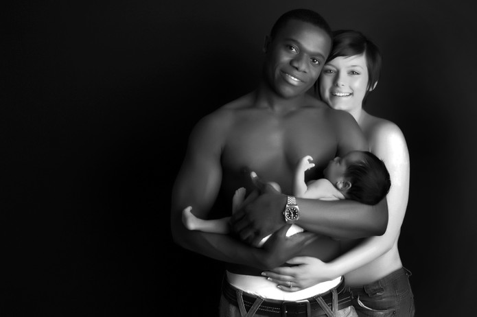 Intimate family portrait