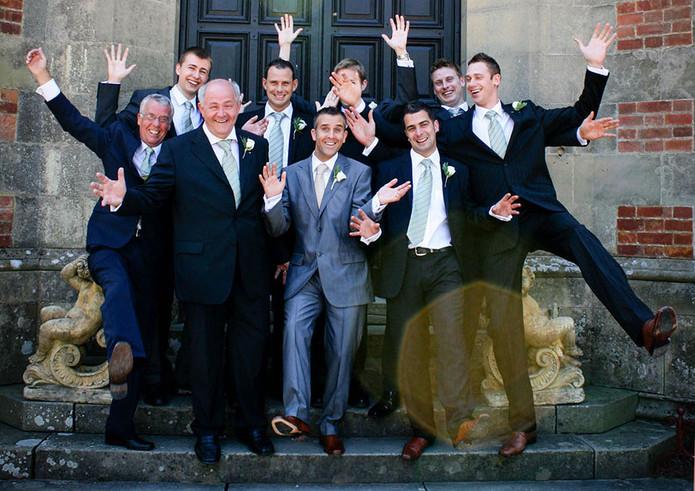 Groomsmen at Otterburn Hall