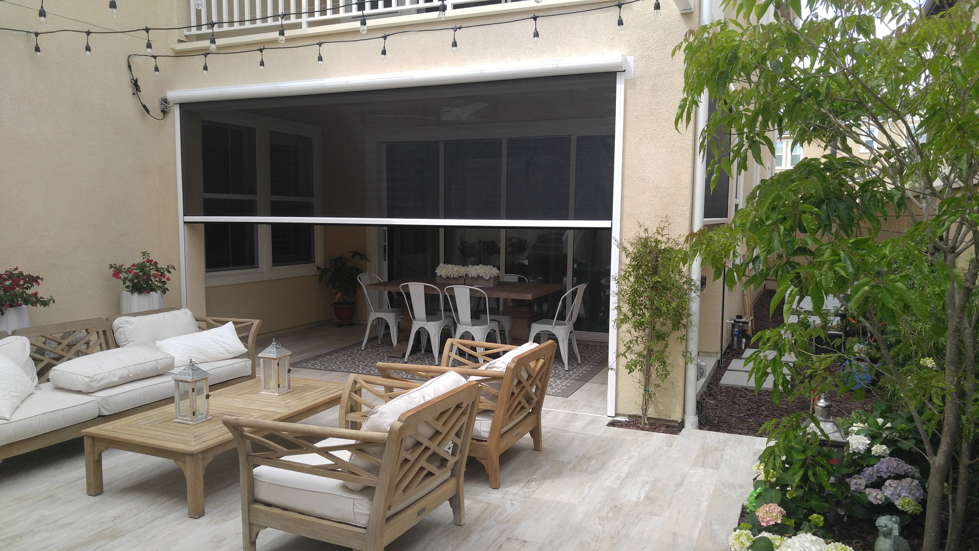 Rainier Motorized patio porch screens