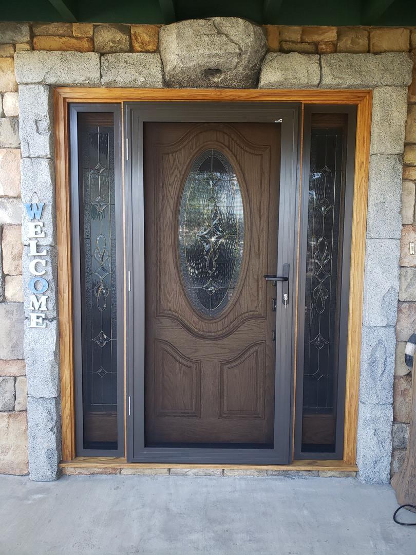 Vista Security Screen Door with Side Lights