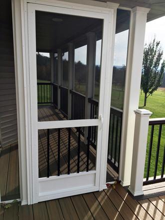 PCA screen door enclosed porch