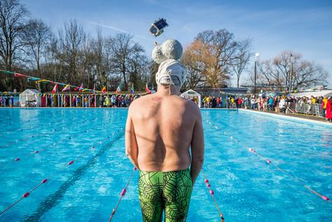 UK Cold Water Swimming Championships, at Tooting Bec Lido, London,2015.
