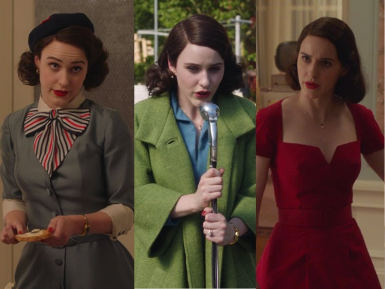 "3 different outfits from ""The Marvelous Mrs. Maisel"""